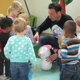 Bas en Muis op bezoek bij kindercentrum Femke Dak