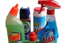 Jaarlijks gebeuren er 7500 ongelukken met huishoudelijke middelen en doe-het-zelf producten.