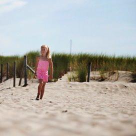 Een echt strand op het buitenterrein