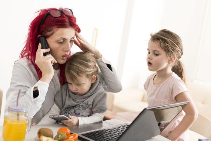 ouder, lockdown, stress, noodopvang